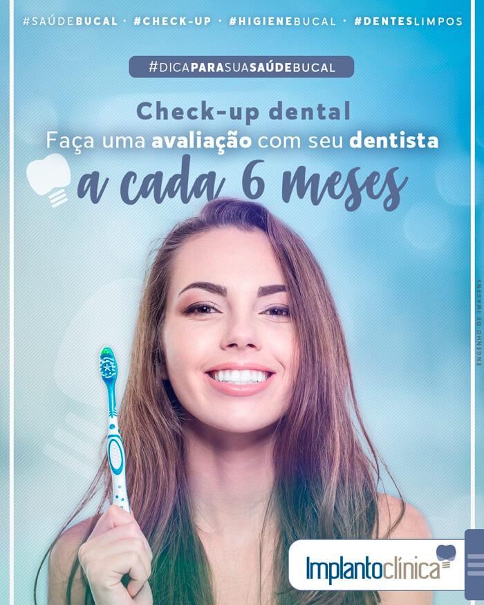 Dica para a sua saúde bucal: Check-Up dental