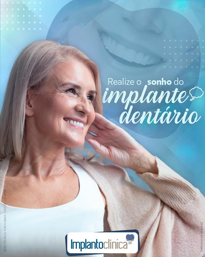 Realize o sonho de colocar um implante dentário